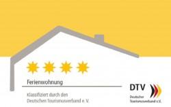4 Sterne DTV-Klassifizierung für Ferienhäuser und Ferienwohnungen