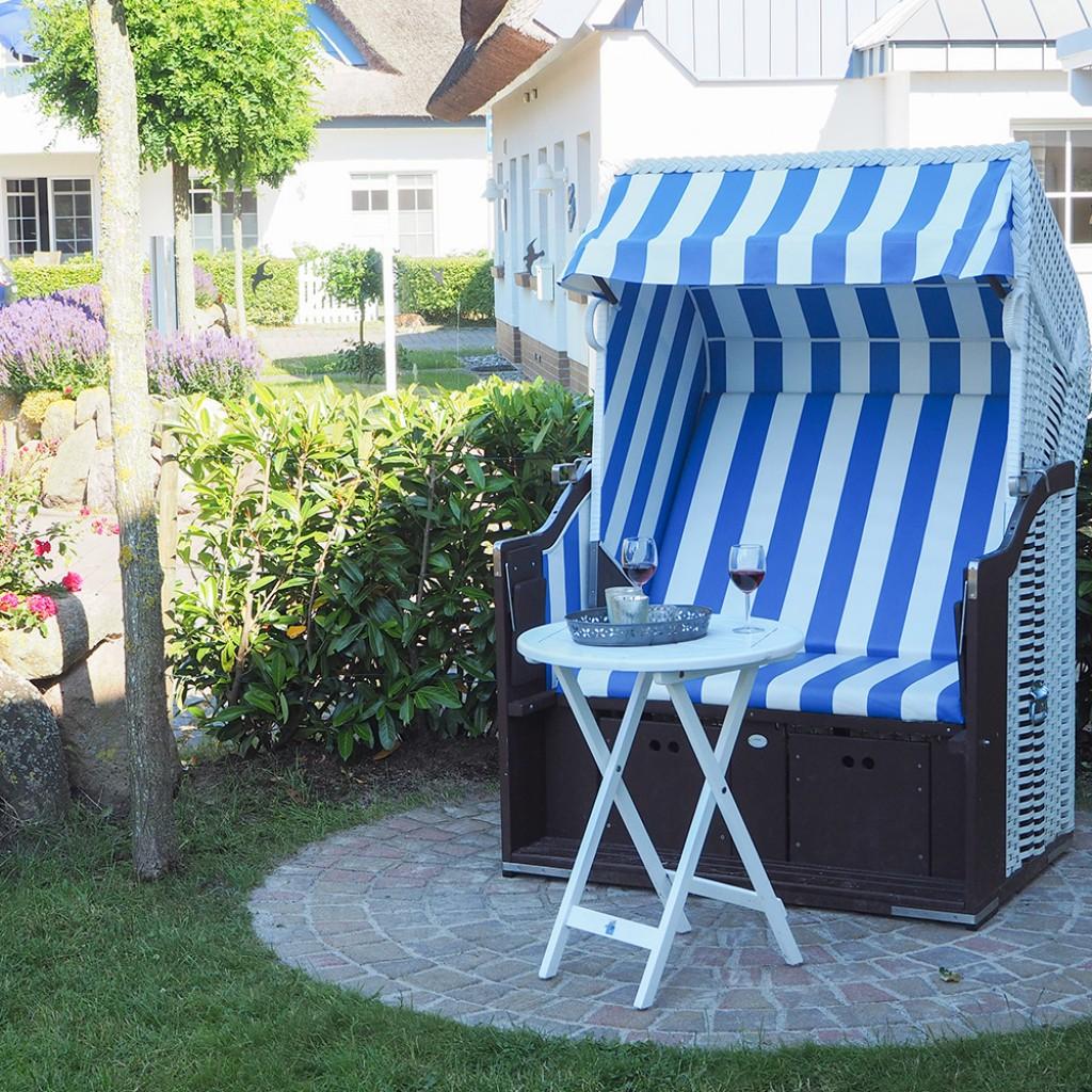 Der Garten mit Strandkorb, Ferienhaus Winflüchter